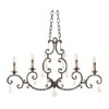 This item: Montgomery Vintage Iron Four-Light 44-Inch Wide Island Pendant