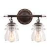 This item: Brierfield Antique Copper Two-Light Bath Fixture