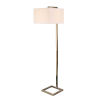 This item: 4 Square Antique Brass One-Light Shaded Floor Lamp