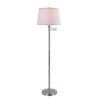 This item: Riverside Brushed Steel Shaded Floor Lamp