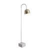 This item: Maverick Antique Brass One-Light Shaded Floor Lamp