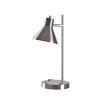 This item: Ash Brushed Steel One-Light USB Desk Lamp