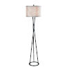 This item: Mariah Black and Silver One-Light Shaded Floor Lamp