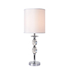 This item: Ava Chrome with Crystal Accents One-Light Accent Lamp