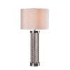 This item: Dumas Distressed White Wooden Bead One-Light Accent Table Lamp