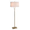 This item: Amina Antique Brass Two-Light Shaded Floor Lamp