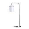 This item: Levi White and Brushed Steel One-Light Desk Lamp