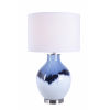 This item: Eleanor White and Blue Art Glass One-Light Accent Table Lamp