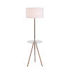 This item: Nash Wood Grain and Antique Brass One-Light Shaded Floor Lamp