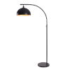 This item: Terrin Black and Gold Shade Interior One-Light Shaded Floor Lamp