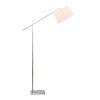 This item: Everett Brushed Steel One-Light Adjustable Arm Floor Lamp