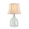 This item: Sydney Aqua Tinted Glass And Brushed Steel One-Light Shaded Table Lamp