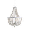 This item: Dumas White and Distressed White Bead Five-Light Chandelier