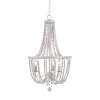 This item: Regas White and Distressed White Bead Three-Light Chandelier