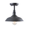 This item: Dale Black Outdoor Semi-Flush Mount
