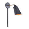 This item: Alvar Matte Black and Antique Brass inside Wall Sconce