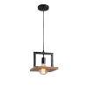 This item: Sarkee Black and Natural Wood One-Light Mini Pendant