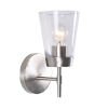 This item: Delgado 1 Brushed Steel and Clear Glass Wall Sconce