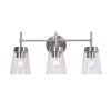 This item: Delgado 3 Antique Brass and Clear Glass Three-Light Bath Vanity