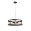 This item: Cozy Wood and Oil Rubbed Bronze Four-Light Pendant