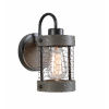 This item: Cozy Wood and Oil Rubbed Bronze Wall Sconce