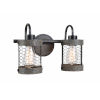This item: Cozy Wood and Oil Rubbed Bronze Two-Light Bath Vanity