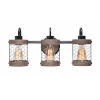 This item: Cozy Wood and Oil Rubbed Bronze 7-Inch Three-Light Bath Vanity