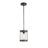 This item: Cozy Wood and Oil Rubbed Bronze One-Light Mini Pendant