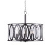 This item: Prince Oil Rubbed Bronze Five-Light Pendant