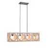 This item: Cadmen Square Weathered White Four-Light Island Pendant