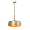 This item: Porter Antique Brass and Gold Two-Light Pendant