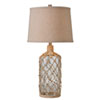 This item: Captain Clear Textured Glass with Rope Wrap One-Light Table Lamp