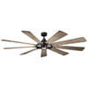 This item: Gentry Anvil Iron LED 85-Inch Ceiling Fan