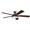 This item: Hatteras Bay Weathered Zinc 60-Inch LED Ceiling Fan