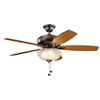 This item: Terra Select Oil Brushed Bronze 52-Inch Three-Light LED Ceiling Fan