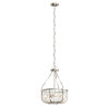 This item: Roux Brushed Nickel 16-Inch Three-Light Pendant