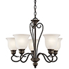 This item: Tanglewood Olde Bronze Five-Light Energy Star LED Chandelier