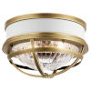 This item: Tollis Natural Brass 12-Inch Two-Light Flush Mount