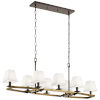 This item: Dancar Natural Brass 16-Inch Eight-Light Chandelier