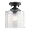 This item: Winslow Black One-Light Semi Flushmount