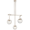 This item: Amaryliss Polished Nickel Three-Light Chandelier