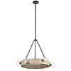 This item: Marquee White Washed Wood 37-Inch Six-Light Chandelier