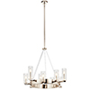 This item: Cleara Polished Nickel Nine-Light Chandelier
