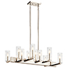 This item: Cleara Polished Nickel 10-Light Chandelier