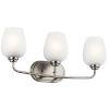 This item: Valserrano Brushed Nickel 24-Inch Three-Light Bath Vanity