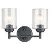 This item: Winslow Black Two-Light Bath Vanity
