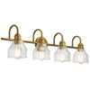 This item: Avery Natural Brass Four-Light Bath Vanity