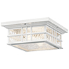This item: Beacon Square White Two-Light Outdoor Flush Mount