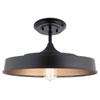 This item: Elias Black One-Light Semi Flushmount