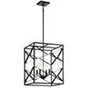 This item: Sevan Black Four-Light Pendant